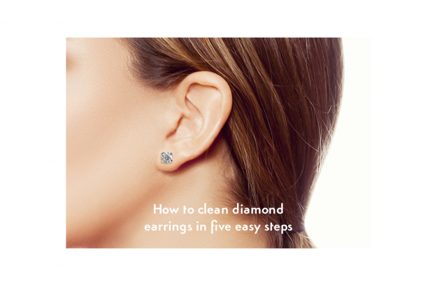 How to clean diamond earrings in five easy steps