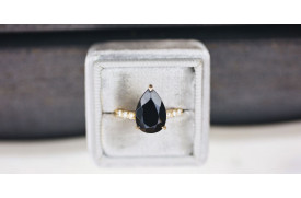 Black Diamond Engagement Ring Meaning
