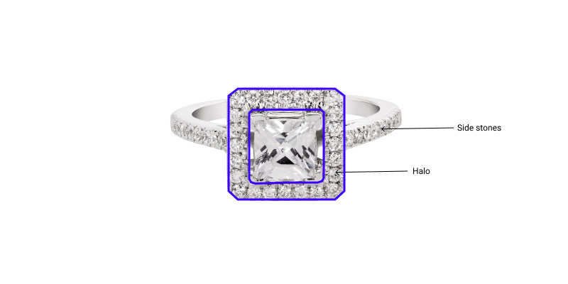 parts of a halo ring
