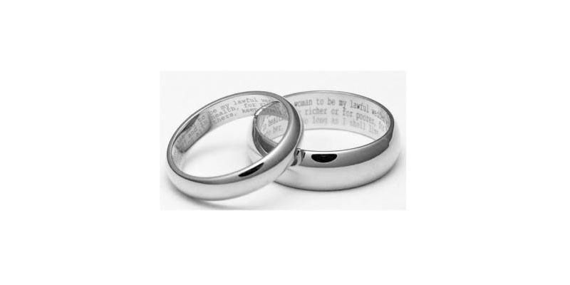 Bagues de fiançailles - Gravez vos vœux
