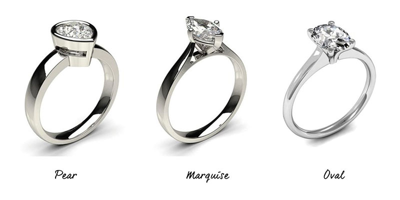 Engagement Rings - Short Fingers