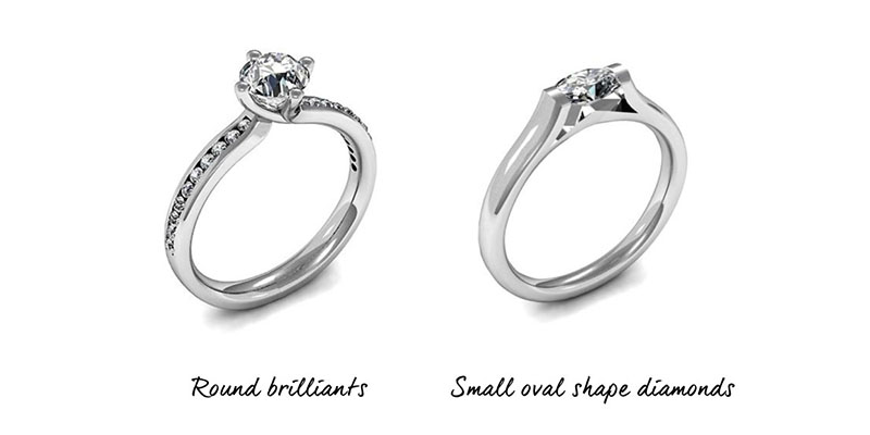 Engagement Rings - Small Hands