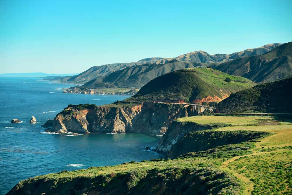 The coasts of Big Sur in California