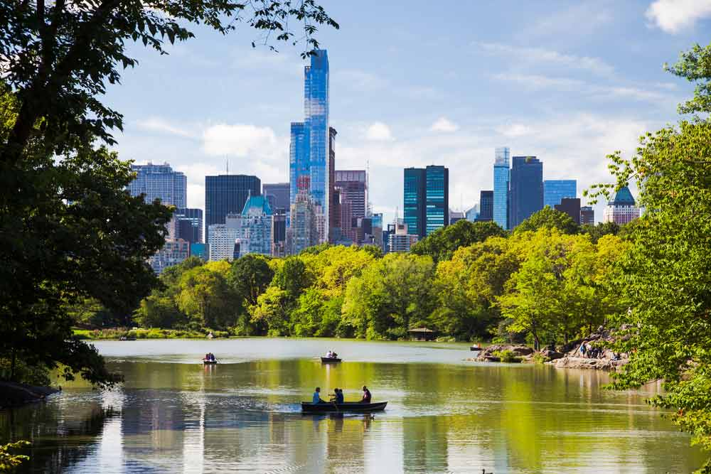 A daytime picture of Central Park in New York