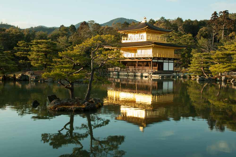 A picture of the Golden Temple in Japan