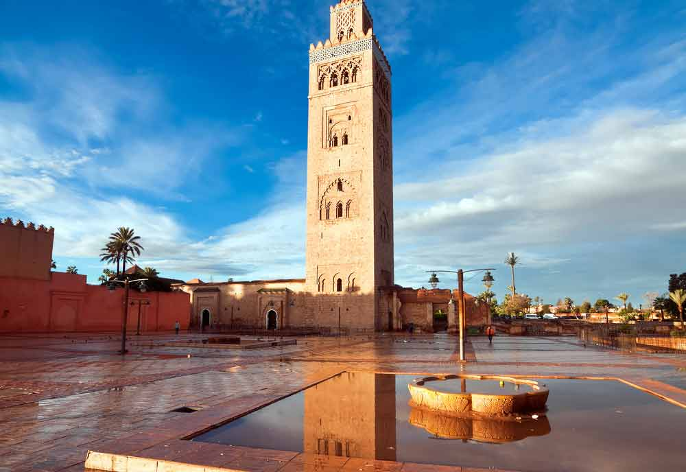 A historical monument in Marrakech, Morroco
