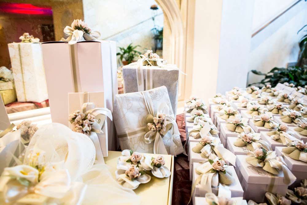An image of many wedding gifts.