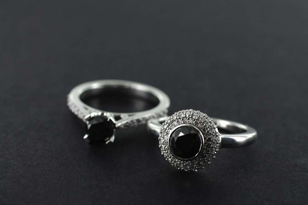 Black Diamonds Engagement Rings