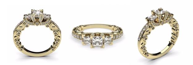 Unique Three Stone Engagement Rings