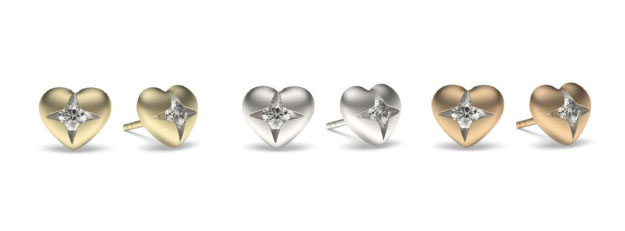 Delicate Diamond Earrings - Valentine Day