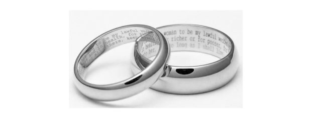 Engagement ring engraving ideas