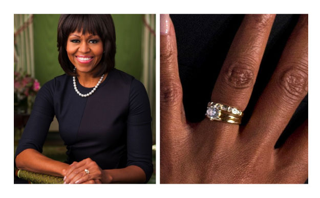 Michelle Obama - Classic Solitaire Engagement Rings