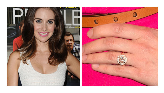 Alison Brie - Halo Engagement Ring