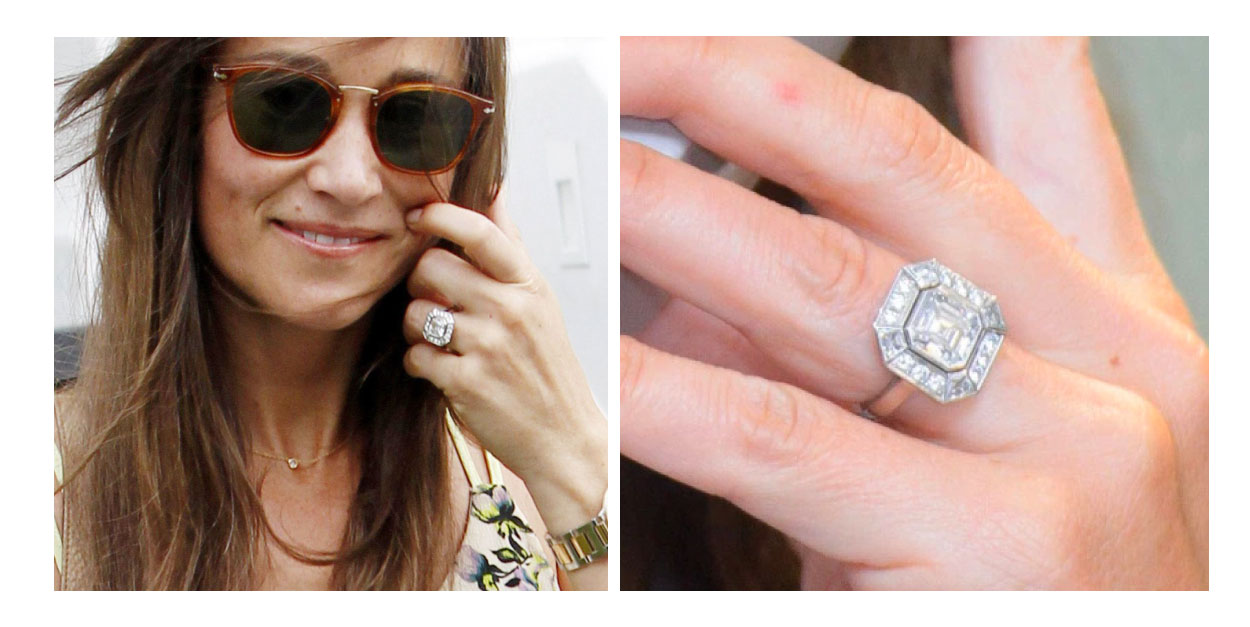 Pippa Middleton - Asscher Halo Engagement Ring