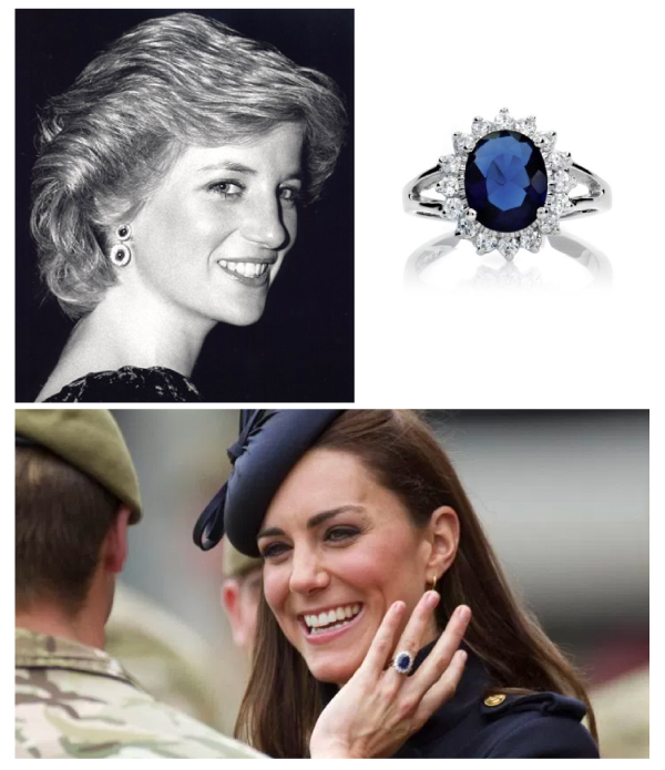 Princess Diana and Kate Middleton - Engagement Rings