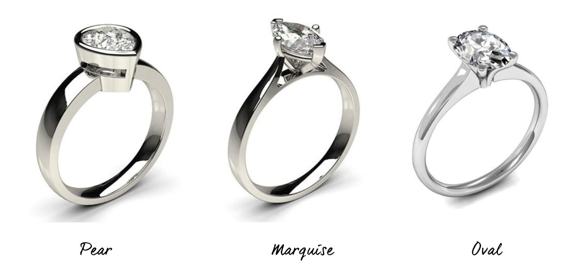 Pear, Marquise and Oval Engagement Rings