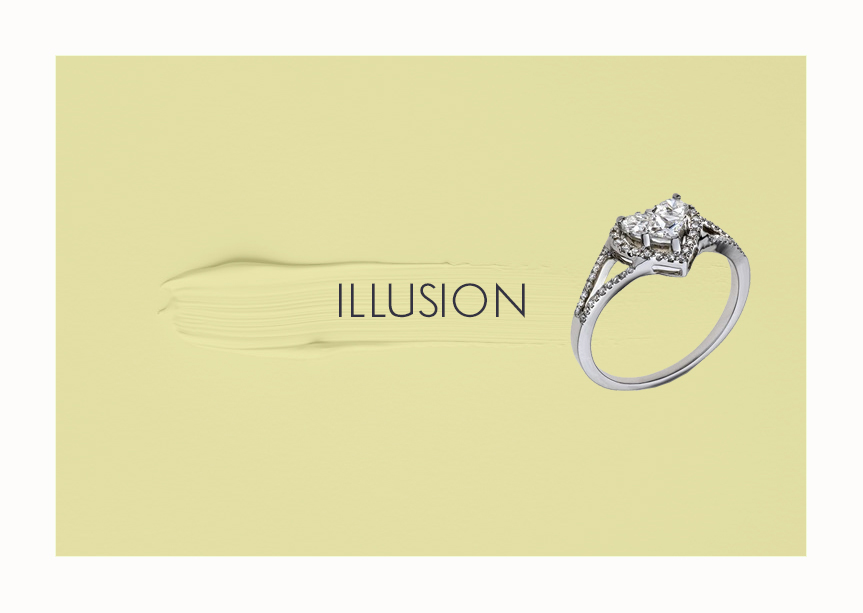 Engagement Ring Illusion Setting