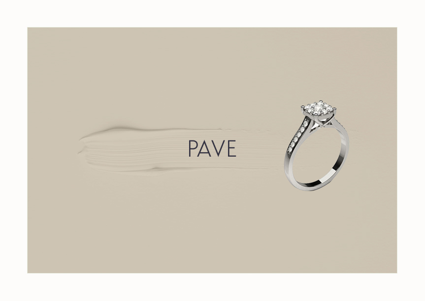 Engagement Ring Pave Setting
