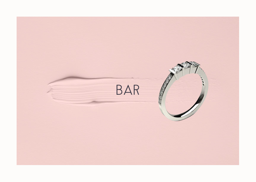 Engagement Ring Bar Setting