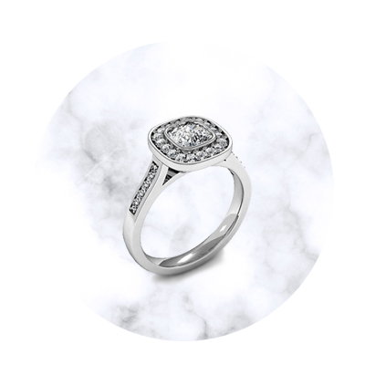 Cushion Shaped Engagement Rings