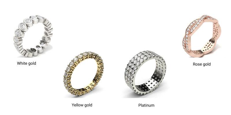 eternity rings metal type