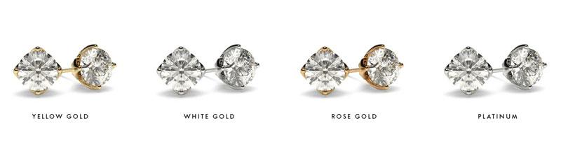 Diamond Stud Earrings - Metals