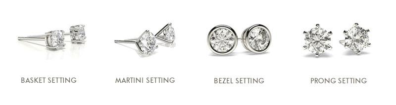 Diamond Stud Earrings Settings