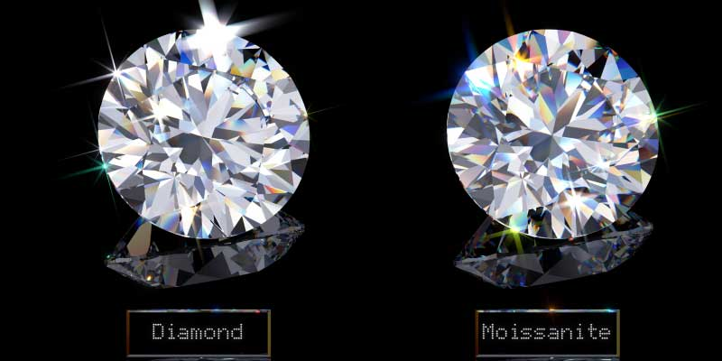 difference between diamond and moissanite