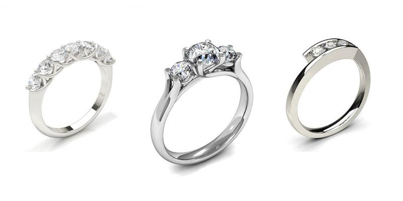 multi stone engagement rings