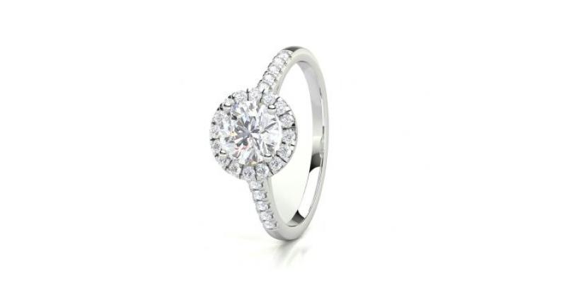 diamant halo verlobungsring