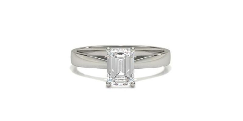 emerald cut engagement rings