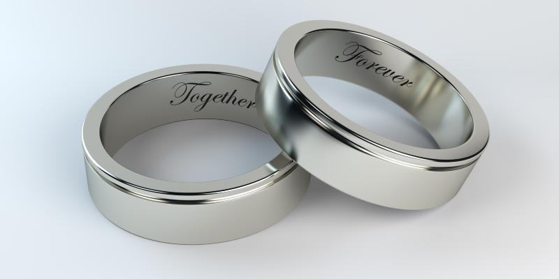forever together engraved partner rings