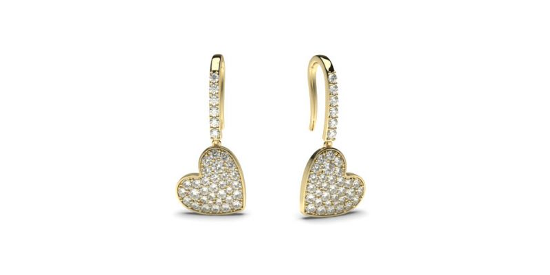 gold diamond drop earrings