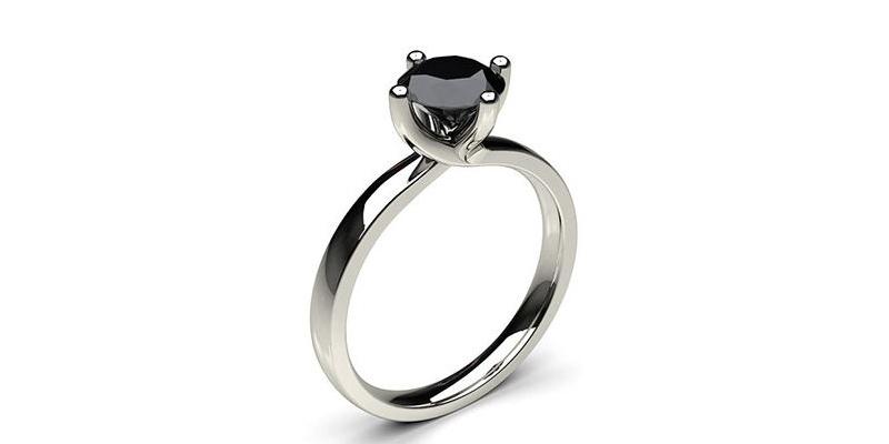 schwarzer diamant verlobungsrin