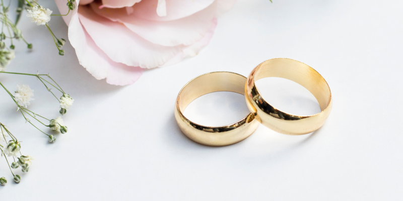 yellow gold partner rings