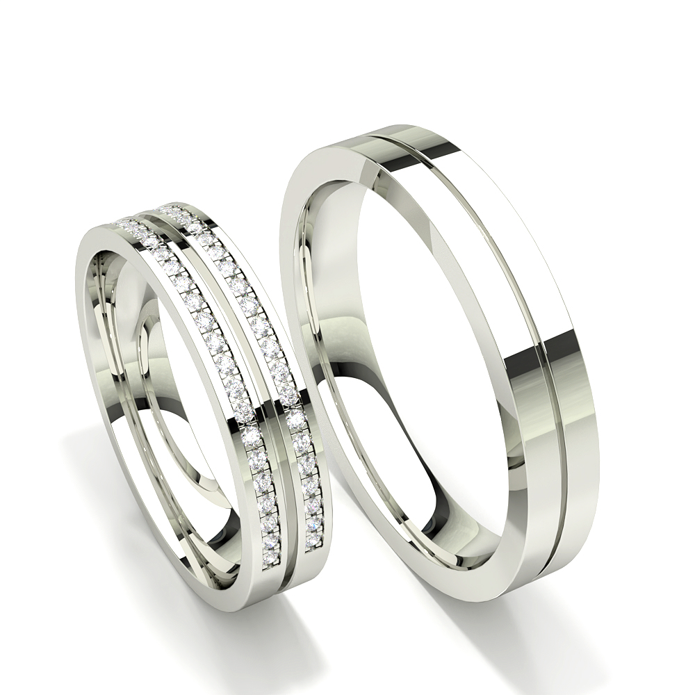 Diamant besetzte halbe Ewigkeit Frauen Ehering