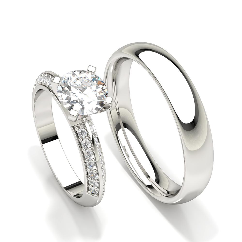 Zinken Set Diamant Frauen Verlobungsring