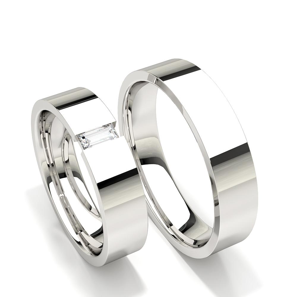 Baguette Diamant Studded Damen Ehering