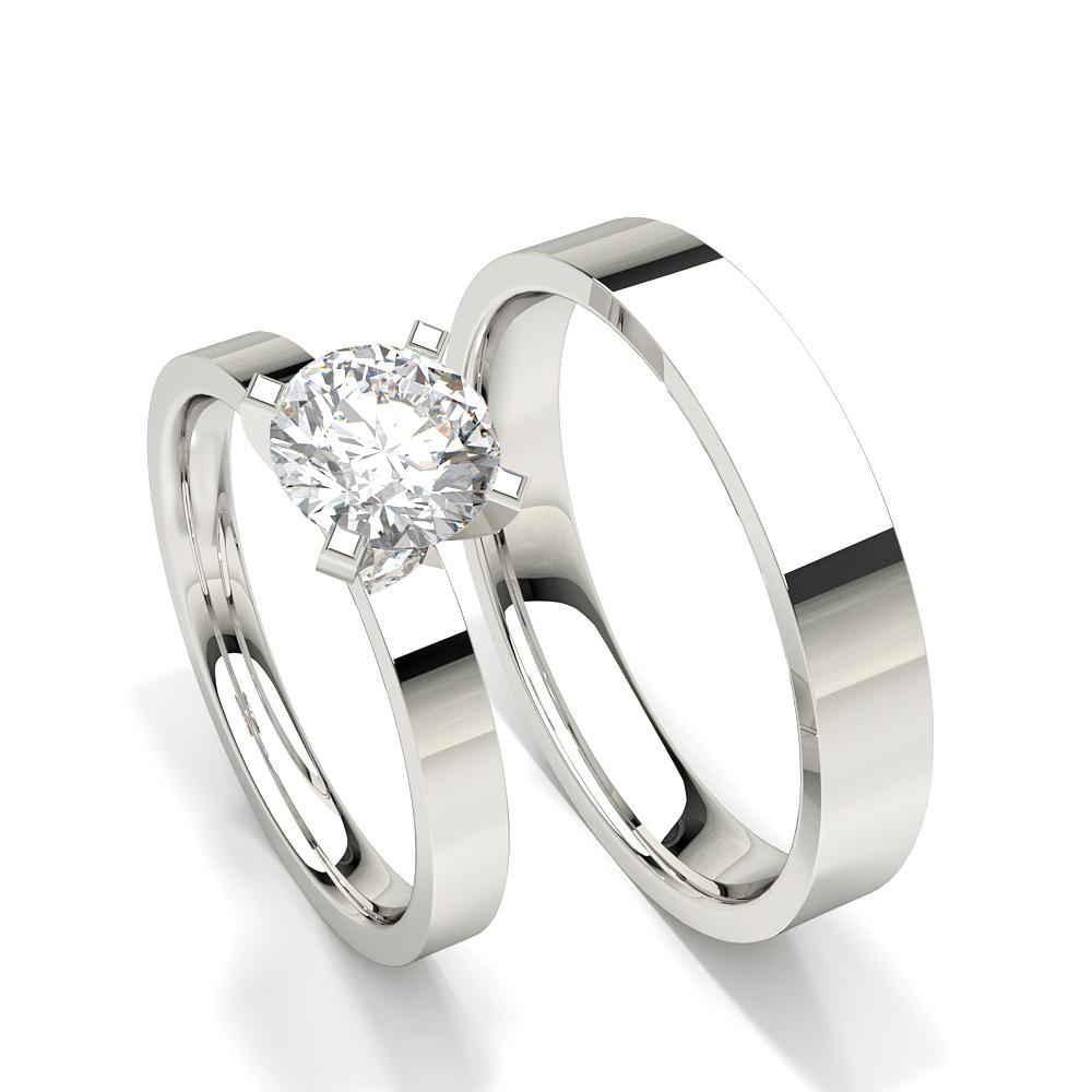 Zinkeneinstellung Solitär Diamant Damen Verlobungsring