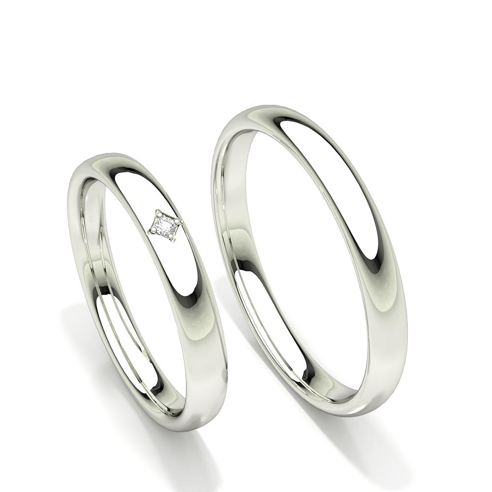 Zinkeneinstellung Solitär Diamant Komfort fit Damen Ehering