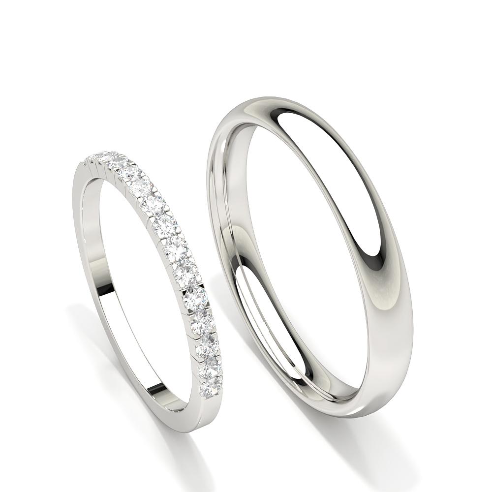 Zinkeneinstellung Diamant Damen Ehering