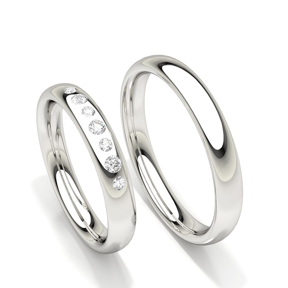 Spuleinstellung Runde Diamant Damen Ehering
