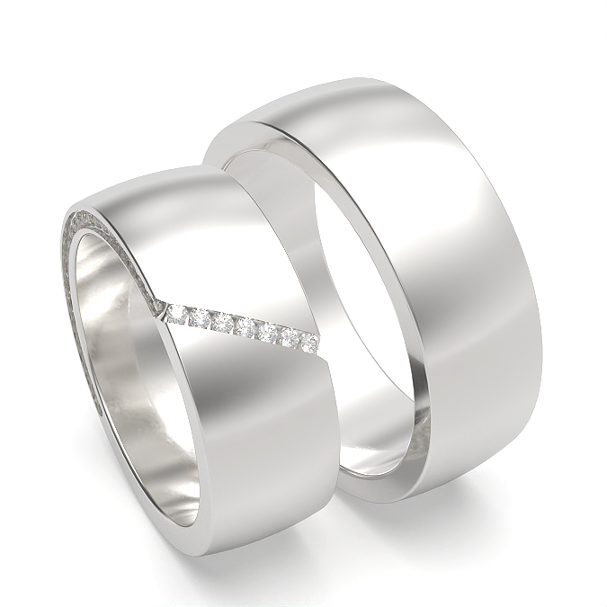 Machine Setting Womens and Mens Wedding Band