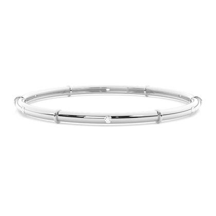 Bracelet jonc diamant rond serti invisible 0.30ct - CLBG608_02