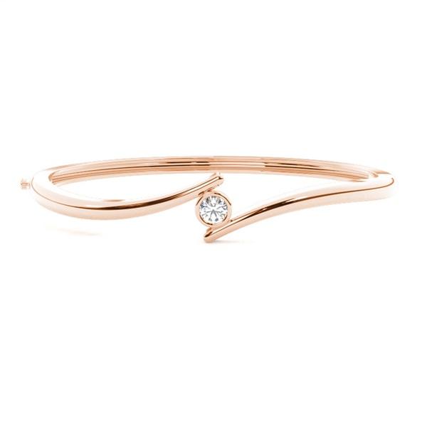 Bracelet jonc diamant rond serti clos 0.30ct