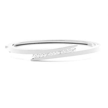 Channel Setting Round Diamond Bangle - CLBG609_04