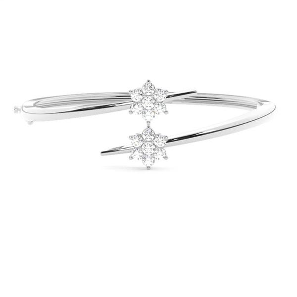 Runde Diamanten Krappen gefasst in einem Armreifen