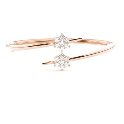 Rose Gold Diamond Bangles Diamond Bracelets