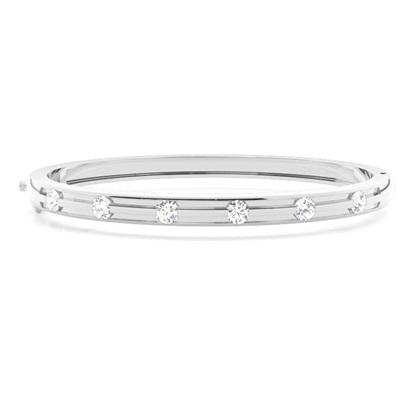 Bracelet jonc diamant rond serti invisible 0.80ct - CLBG609_06