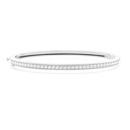 Pave Setting Round Diamond Bangle - CLBG609_07